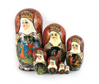 "Matryoshka ""Fairy-tale"", 7 pieces (Russian Babushka doll)"