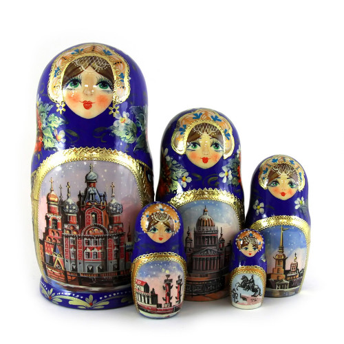 "Матрешка ""Санкт-Петербург"", 5 мест"