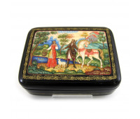 """Lacquer miniature """"Young Peasant Lady"""", Mstyora"""