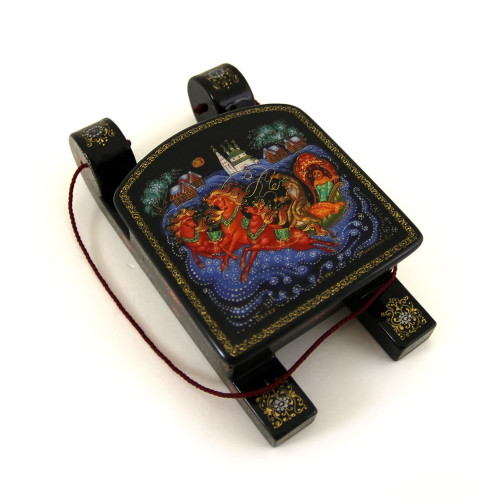 "Lacquered miniature ""Troika"", Palekh"