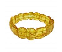 Amber bracelet, honey amber, 6 cm