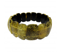 Baltic amber bracelet, green amber, 6 cm