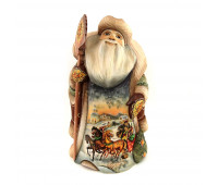 """Carved Father Frost """"Russian Troika"""", 31 cm"""