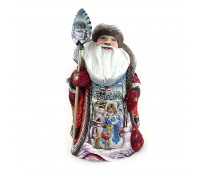 Carved Father Frost with image of the Snow Maiden