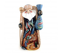 Carved Father Frost, hand-painted, height 34 cm