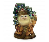 Carved Father Frost with Christmas tree