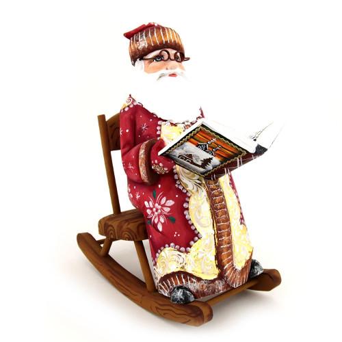 Дед Мороз резной под елку, ручная работа