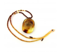 Amber Pendant, Handcarved