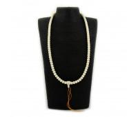 Prayer beads, mammoth tusk