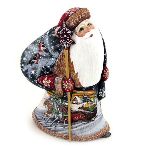 Дед Мороз с изображением русской тройки