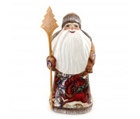 """Carved Father Frost """"Russian Troika"""", hand-painted"""
