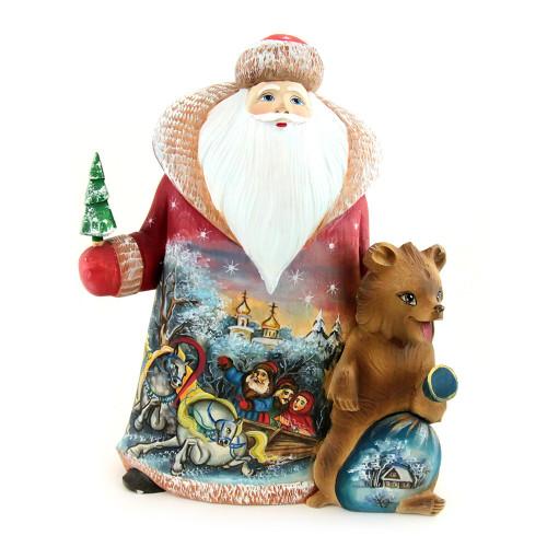 Дед Мороз под елку с изображением зимней тройки