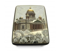 """Lacquer miniature """"Saint Isaac's Cathedral"""", Fedoskino"""