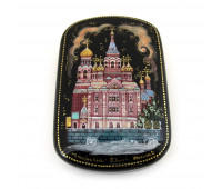 "Lacquer miniature ""Church of the Savior on Blood"", Kholuy"