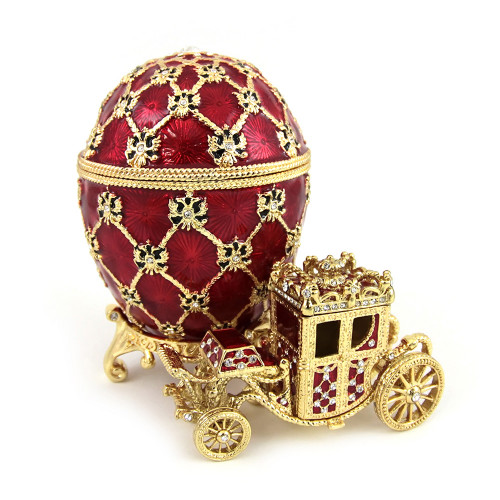 """Faberge Egg Box """"Imperial Coronation Egg"""", Collectible Faberge Reproduction"""