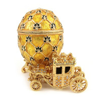 "Faberge Egg Box ""	Imperial Coronation Egg"", Collectible Faberge Reproduction"