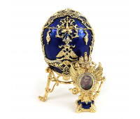 "Faberge Egg Box ""Tsarevich"", Collectible Faberge Reproduction"