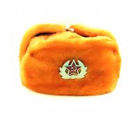 Шапка ушанка Оранжевая