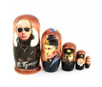 """Matryoshka """"Putin"""", 5 pieces (Nesting dolls)"""