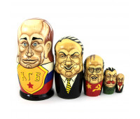 "Матрешка ""Политики России и СССР"" 5 мест"