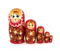 "Матрешка ""Традиционная - Цветы"", 5 мест"