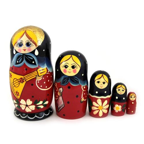 "Матрешка ""С балалайкой"", 5 мест"