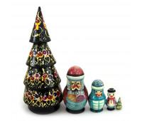 "Matryoshka ""Christmas tree"", 5 dolls (Nesting dolls)"