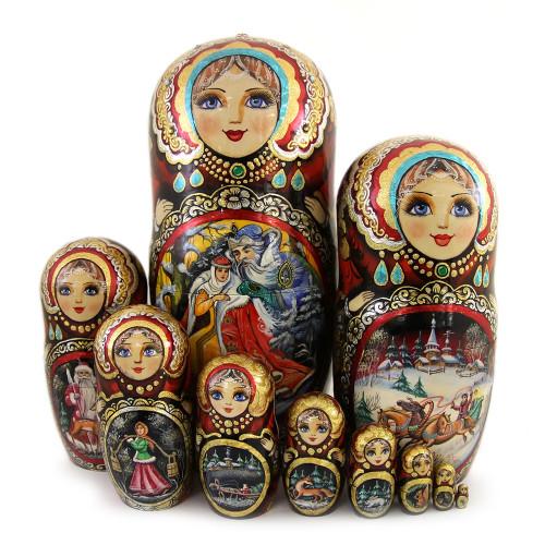"Матрешка ""Русская сказка, Морозко"", 10 мест"