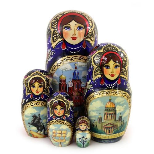 "Матрешка ""Храм Спас-на-Крови"", 5 мест"