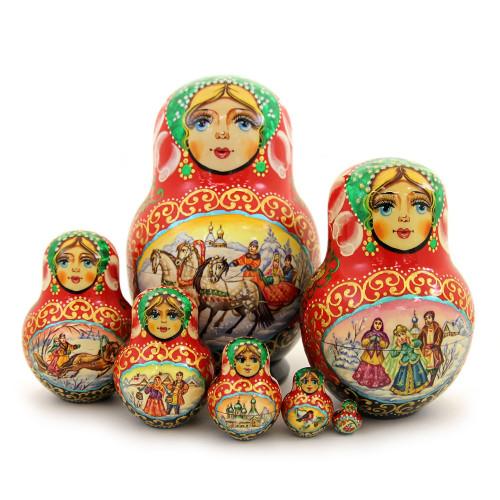 """Матрешка """"Популярные русские сказки"""", 7 мест"""