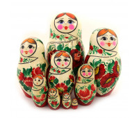 "Matryoshka ""Vyatskaya"", 9 pieces (Nesting doll)"