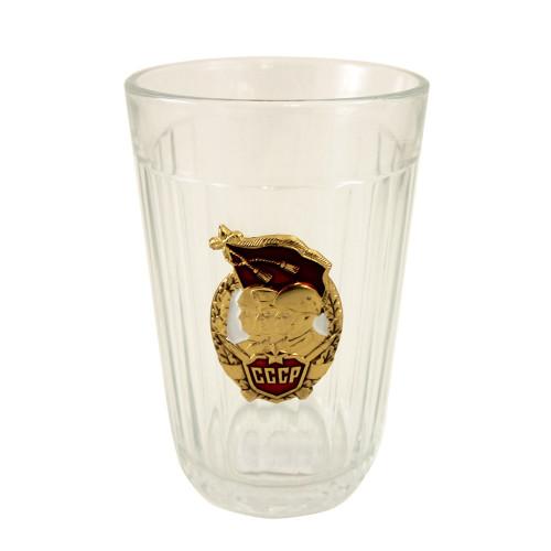 Граненый стакан со значком СССР