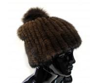 Мягкая норковая шапка