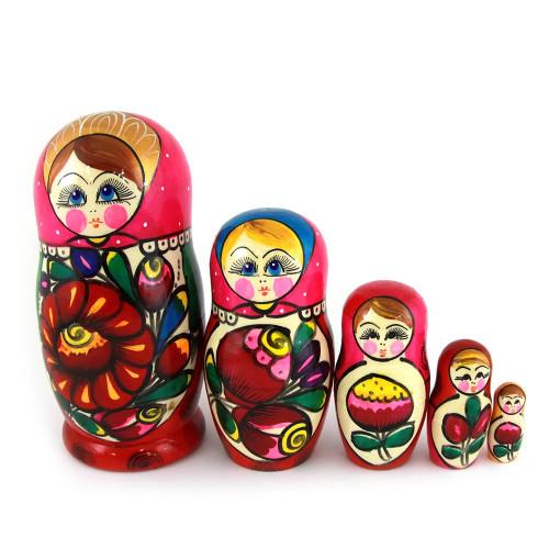 "Матрешка ""Майдан, розовый платок"", 5 мест"