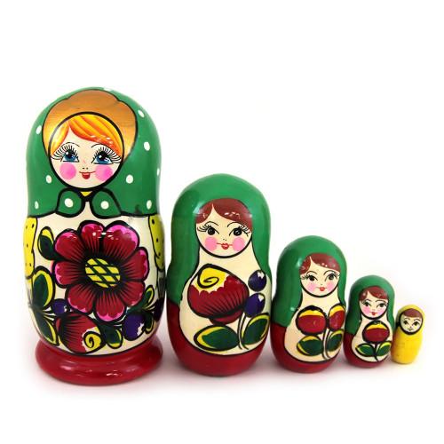 "Матрешка ""Майдановская, с цветами"", 5 мест"