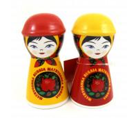 Set of salt shaker & pepper shaker