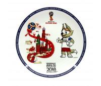 Тарелка сувенирная FIFA 2018
