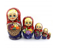 "Matryoshka ""Fruits"", 5 pieces"