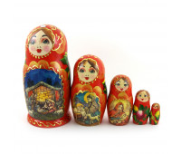 "Russian nesting doll ""Fairy Tale"", 5 pieces"