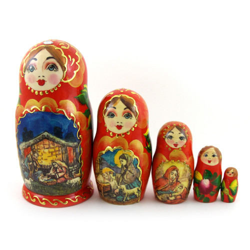 "Русская матрешка ""Сказка"", 5 мест"
