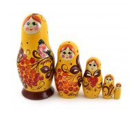 "Matryoshka ""Mountain ash"", 5 pieces"