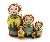 "Matryoshka ""Zhzhenka"", 5 pieces"