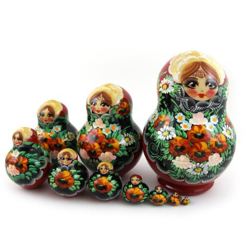 Русская матрешка Маки, 10 мест