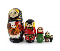 "Russian matryoshka ""With a rooster"", 5 pieces"