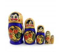 """Matryoshka """"Khokhloma"""", 5 pieces"""