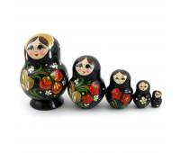 "Russian matryoshka ""Khokhloma"", 5 pieces"