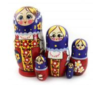 """Русская матрешка """"Сарафан"""", 5 мест"""