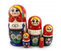 "Matryoshka ""Daisies"", 5 pieces"