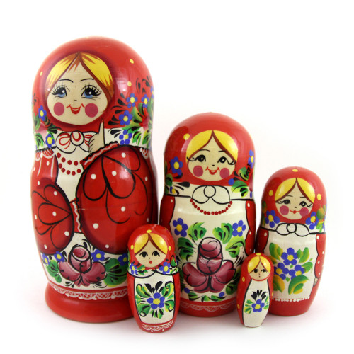 "Матрешка ""Цветы"", 5 мест"