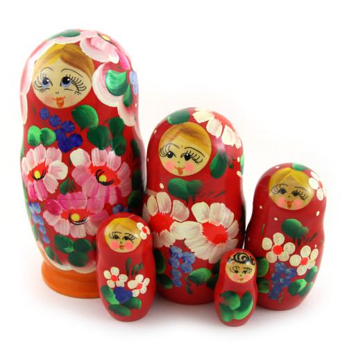 """Матрешка """"Традиционный букет"""", 5 мест"""